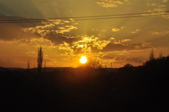 bild på soluppgång när man använder dagsljuslampa
